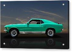 1970 Mustang Cobra Jet Mach 1 428 Acrylic Print