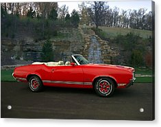 1970 Oldsmobile Cutlass Supreme Convertible Acrylic Print