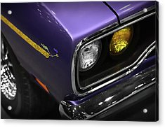 1970 Plum Crazy Purple Road Runner Acrylic Print by Gordon Dean II