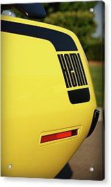 1970 Plymouth Hemi Cuda Drivers Rear Hockey Stripe Acrylic Print by Gordon Dean II