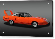 Acrylic Print featuring the photograph 1970 Plymouth Road Runner Superbird  -  1970plyrrsuperbirdfa170528 by Frank J Benz