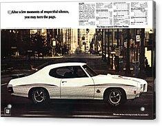1970 Pontiac Gto The Judge  Acrylic Print by Digital Repro Depot