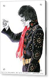 1971 Black Pinwheel Suit Acrylic Print by Rob De Vries