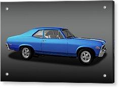Acrylic Print featuring the photograph 1971 Chevrolet Nova Super Sport 350   -  1971chevroletnovassfa170507 by Frank J Benz