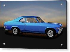 Acrylic Print featuring the photograph 1971 Chevrolet Nova Super Sport 350   -   1971chevynova350ss170507 by Frank J Benz