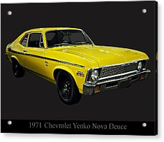 1971 Chevy Nova Yenko Deuce Acrylic Print by Chris Flees