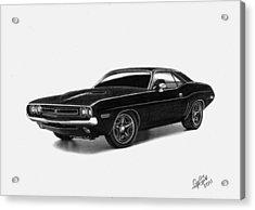 1971 Dodge Challenger Acrylic Print