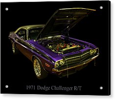 1971 Dodge Challenger Acrylic Print by Chris Flees
