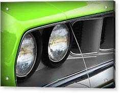 1971 Plymouth Barracuda Cuda Sublime Green Acrylic Print by Gordon Dean II