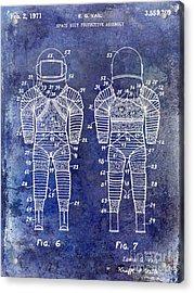 1971 Space Suit Patent Blue Acrylic Print by Jon Neidert