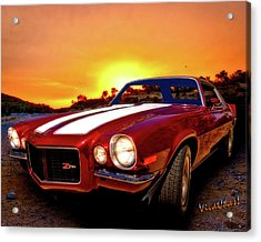 1971 Z28 Camaro Hdr Vivid Remembrance Acrylic Print