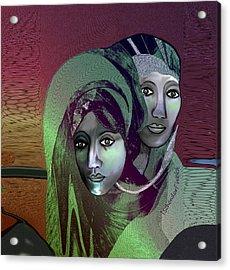 Acrylic Print featuring the digital art 1972 - 0n A Gloomy Day - 2017 by Irmgard Schoendorf Welch