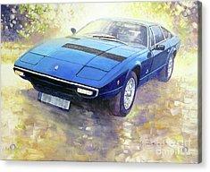 1972 Maserati Khamsin  Acrylic Print