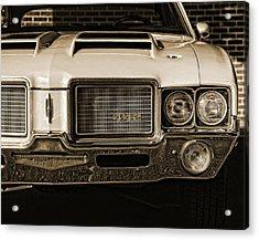 1972 Olds 442 - Sepia Acrylic Print