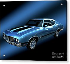 1972 Olds 442 Acrylic Print by Peter Piatt