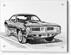 1972 Plymouth Barracuda Acrylic Print by Daniel Storm