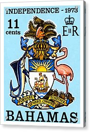 1973 Bahamas Coat Of Arms Postage Stamp Acrylic Print