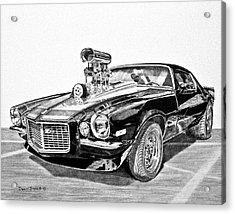 1973 Camaro Z28 Acrylic Print by Daniel Storm