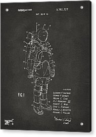 Acrylic Print featuring the digital art 1973 Space Suit Patent Inventors Artwork - Gray by Nikki Marie Smith