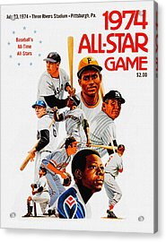 1974 Baseball All Star Game Program Acrylic Print