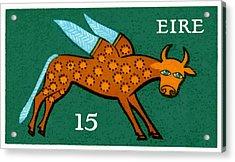 1975 Ireland Winged Ox Postage Stamp  Acrylic Print