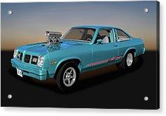 Acrylic Print featuring the photograph 1975 Pontiac Ventura  -  1975pontiacventura170502 by Frank J Benz