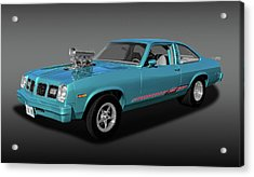 Acrylic Print featuring the photograph 1975 Pontiac Ventura  -  1975pontiacventurafa170502 by Frank J Benz
