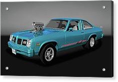Acrylic Print featuring the photograph 1975 Pontiac Ventura  -  1975pontiacventuragry170502 by Frank J Benz