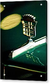 1976 Cadillac Fleetwood Hood Ornament Acrylic Print by Jill Reger