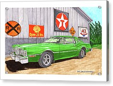 Acrylic Print featuring the painting 1976 Ford Thunderbird by Jack Pumphrey