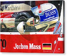 1976 Jarama Marlboro F1 Team Mclaren Jochen Mass Acrylic Print