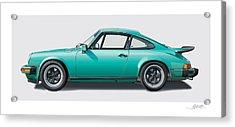 1976 Porsche Euro Carrera 2.7 Illustration Acrylic Print