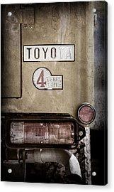 1978 Toyota Land Cruiser Fj40 Taillight Emblem -1191ac Acrylic Print