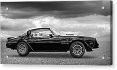 1978 Trans Am In Black And White Acrylic Print