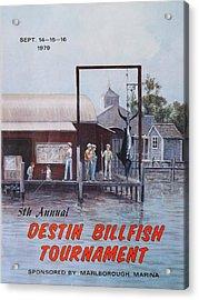 1979 Destin Billfish Tournament Acrylic Print