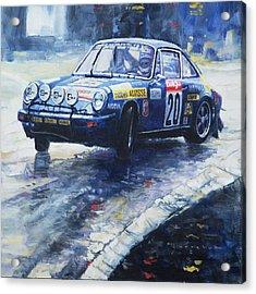 1980 Criterium Lucien Bianchi Porsche Carrera Keller Hoss #20 Acrylic Print by Yuriy Shevchuk