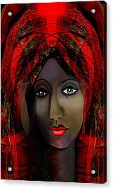 Acrylic Print featuring the digital art 1980 -  Leading Into Temptation 2017 by Irmgard Schoendorf Welch