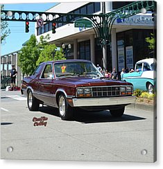 1983 Ford Fairmont Futura Starkey Acrylic Print by Mobile Event Photo Car Show Photography