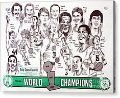1986 Boston Celtics Championship Newspaper Poster Acrylic Print by Dave Olsen