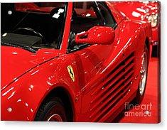1986 Ferrari Testarossa - 5d20028 Acrylic Print by Home Decor