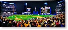 1986 World  Series At Shea Acrylic Print by T Kolendera