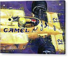 1987 Spa Francorchamps Lotus 99t Ayrton Senna Acrylic Print