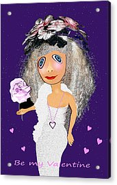 Acrylic Print featuring the digital art 1989 -  I Want To Be Loved By You 2017 by Irmgard Schoendorf Welch
