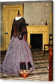 19th Century Plaid Dress Acrylic Print by Susan Savad