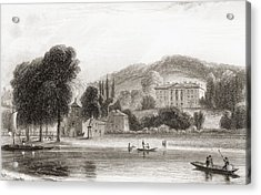 19th Century View Of Beaumont Lodge Acrylic Print