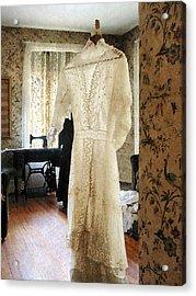 19th Century Wedding Dress Acrylic Print by Susan Savad