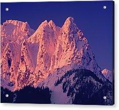 1m4503-a Three Peaks Of Mt. Index At Sunrise Acrylic Print