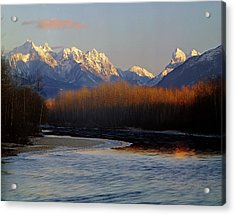1m4525 Skykomish River And West Central Cascade Mountains Acrylic Print