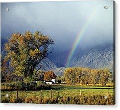 1m6345 Rainbow In Sierras Acrylic Print