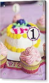 1st Birthday Acrylic Print by Cindy Garber Iverson